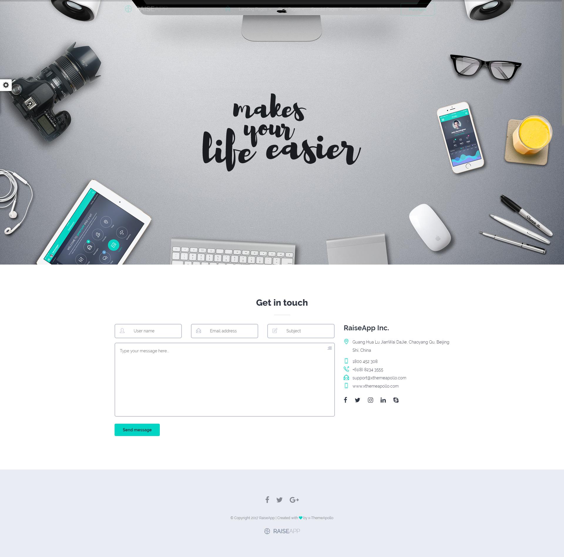 RaiseApp - Responsive UI Kit & Multipurpose Website Template by ...