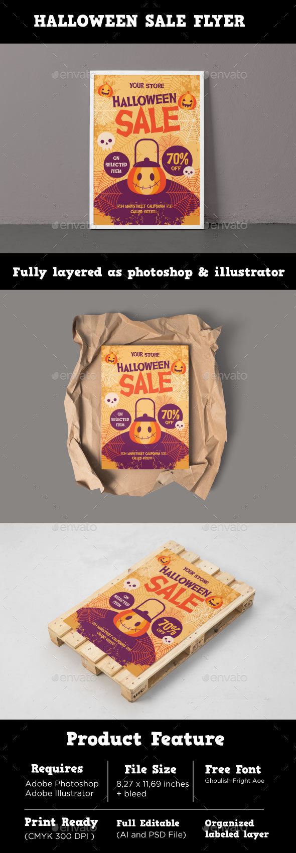 GraphicRiver Halloween Sale Flyer 20828412