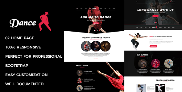 Dance - Responsive Multipurpose Joomla Theme With Page Builder