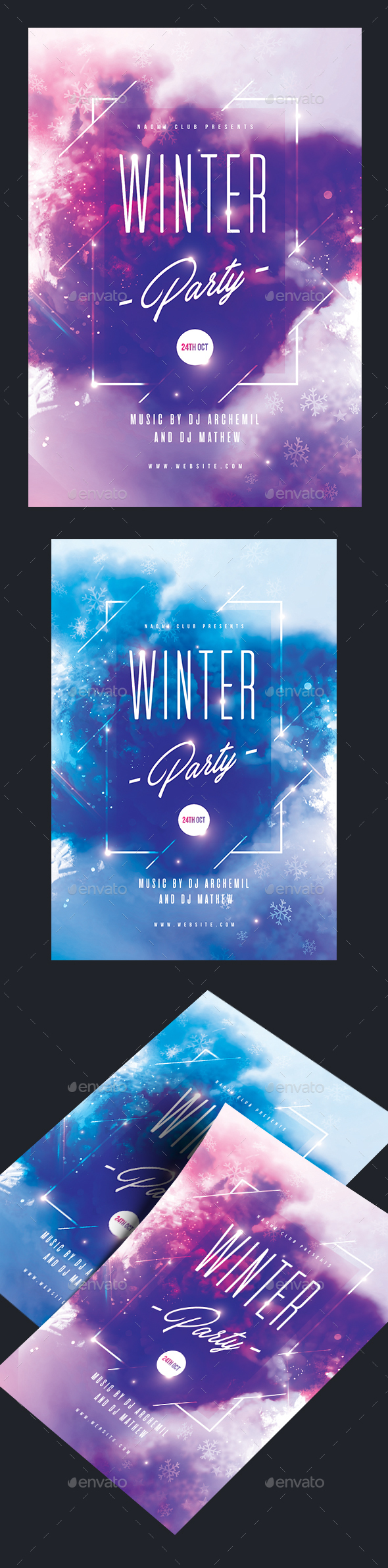 GraphicRiver Winter Party Flyer 20828471