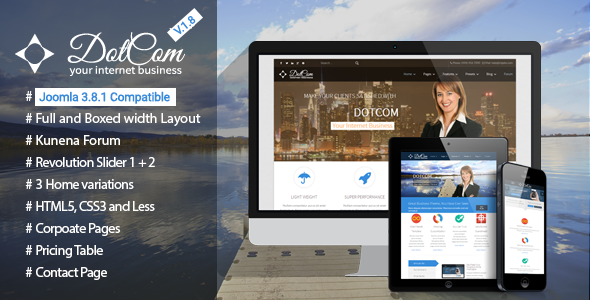 DotCom - Responsive Joomla Corporate Template - Corporate Joomla