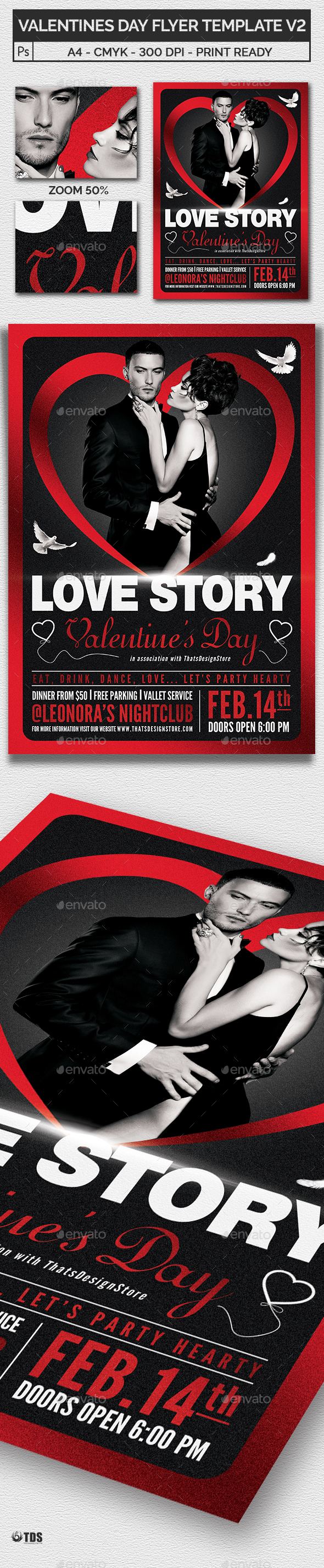 Valentines Day Flyer Template V2