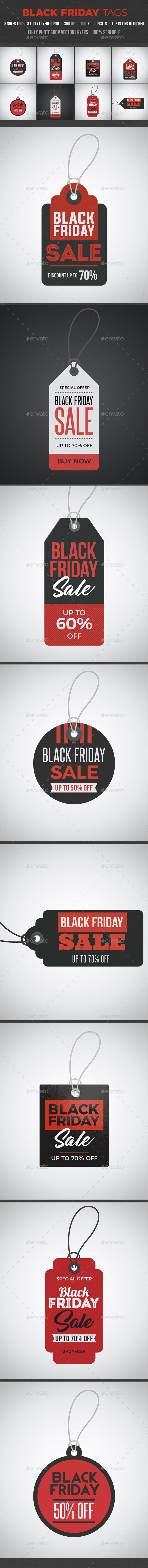 Black Friday Sale Tag - Badges & Stickers Web Elements