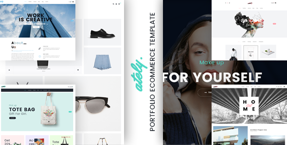Download Free Ately - Portfolio & eCommerce HTML Template