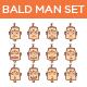 Bald Man Set - GraphicRiver Item for Sale
