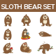 Sloth Bear Set - GraphicRiver Item for Sale