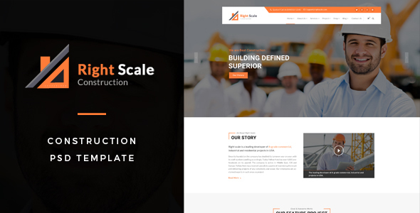 ThemeForest Rightscale Construction PSD Template 20561125
