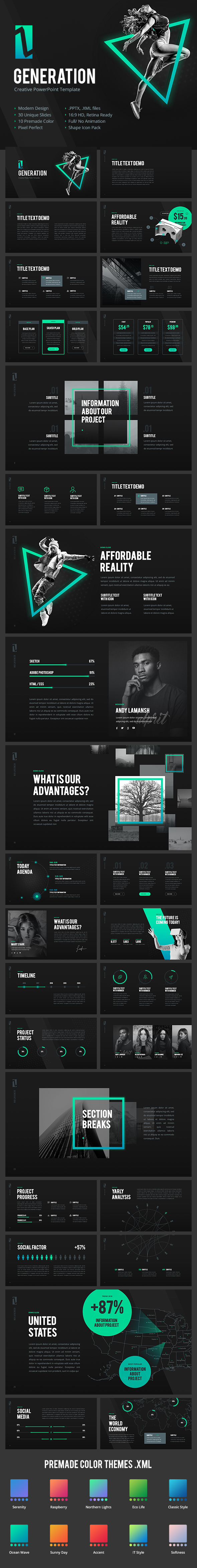 Z Generation - Creative PowerPoint Template - Creative PowerPoint Templates