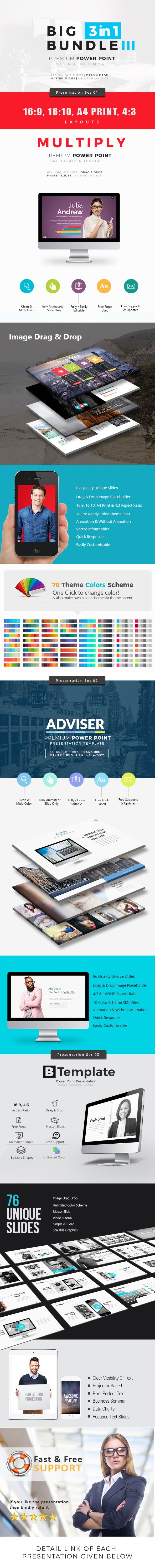 >Big Bundle 3 Three in One Power Point Template - Business PowerPoint Templates