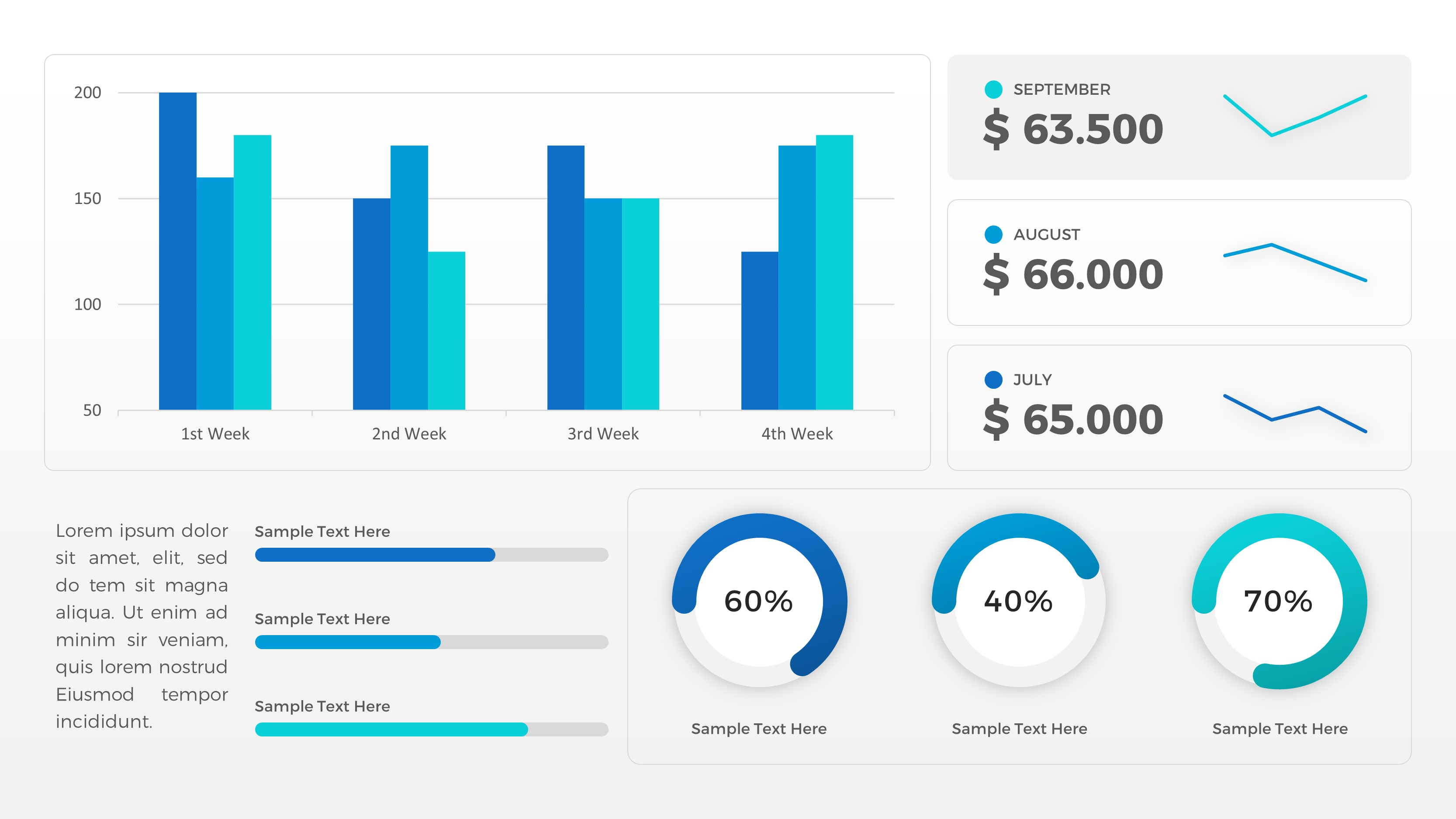 Sales Dashboard Powerpoint Template By Rrgraph Graphicriver