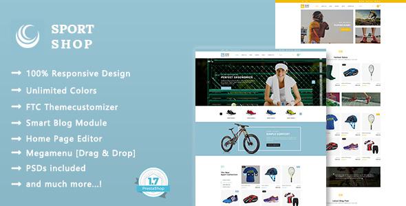 Image of Sport Shop - Clothing, Shoes & Equipment Store Responsive Prestashop 1.7 Theme