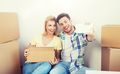 couple with taking smartphone selfie and moving - PhotoDune Item for Sale