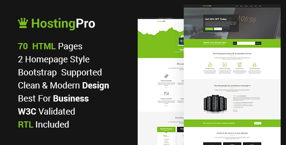 Hosting Pro - Hosting Business Website HTML5 Template