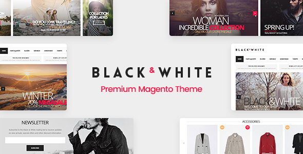 Black&White - Responsive Magento 2.2.x  and Magento 1 Theme