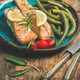 Roasted salmon with lemon, rosemary, chilli pepper and beans - PhotoDune Item for Sale