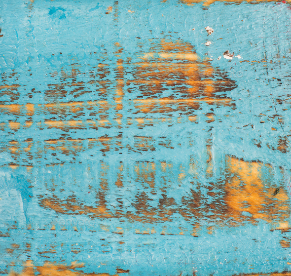 Blue painted old rustic shabby wood texture - Stock Photo - Images