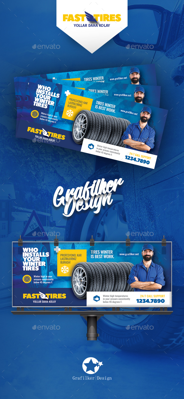GraphicRiver Auto Tires Billboard Templates 20829417