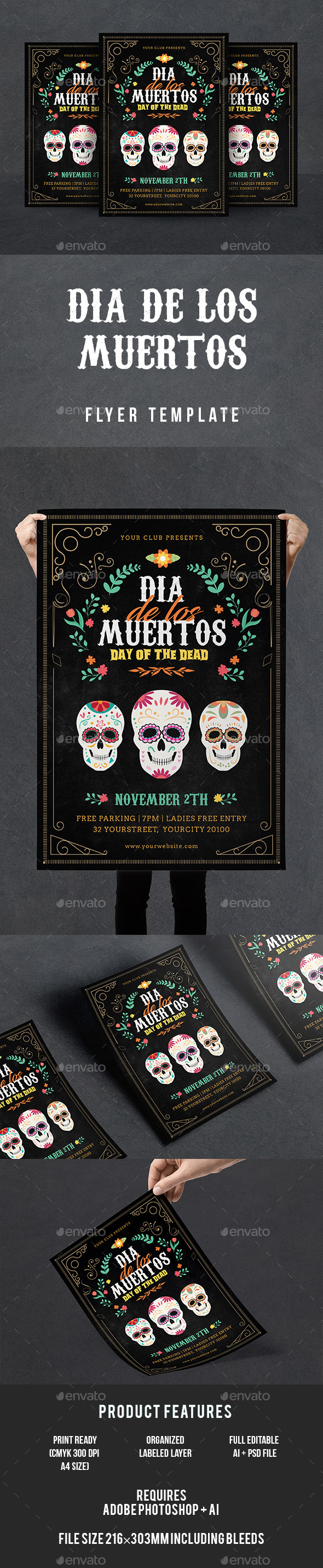 Dia De Los Muertos Flyer - Events Flyers