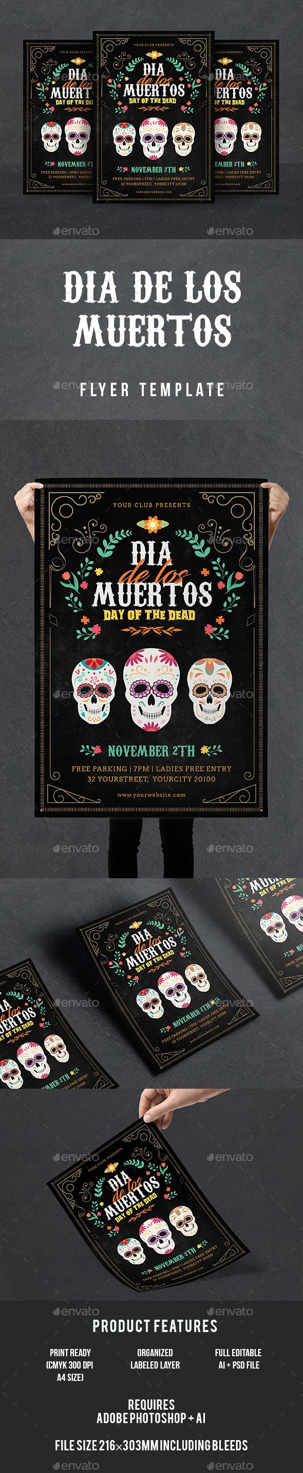 GraphicRiver Dia De Los Muertos Flyer 20829433