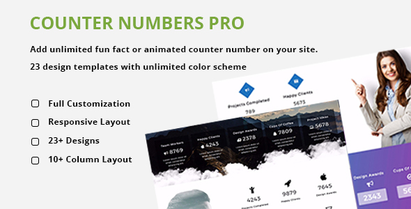 Animated Stat Counter Number Showcase Plugin For Wordpress - CodeCanyon Item for Sale