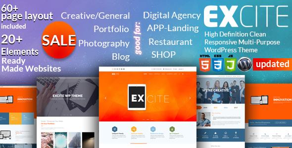 Image of Excite - Clean Responsive Multi-Purpose WordPress Theme