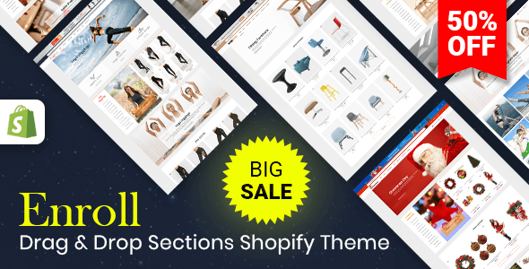 Image of Enroll - Multipurpose Responsive Shopify Theme (Sections Ready)