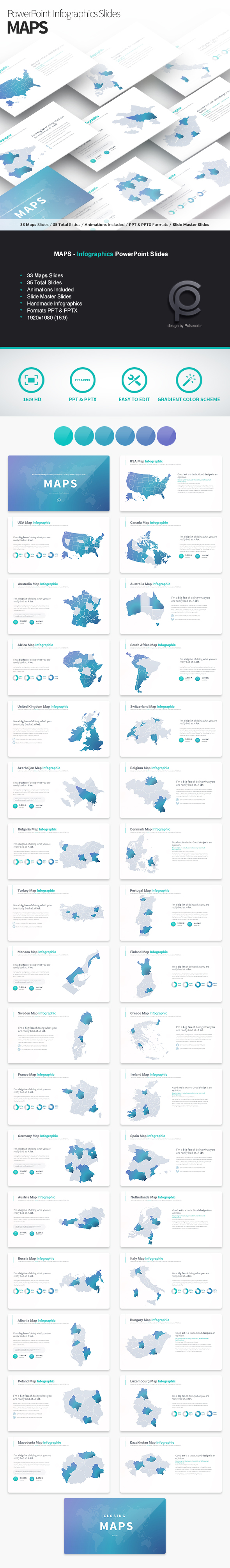 MAPS - PowerPoint Infographics Slides - PowerPoint Templates Presentation Templates