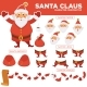 Santa Clause Character Constructor with Spare Body