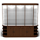 Cabinet with glass shelves - 3DOcean Item for Sale