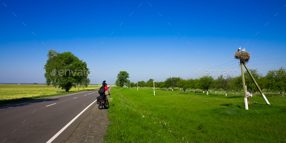 man on bike - Stock Photo - Images