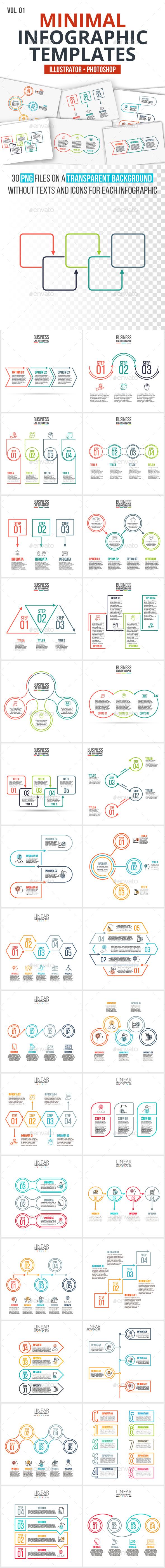 GraphicRiver Minimal infographics pack v.01 20829988