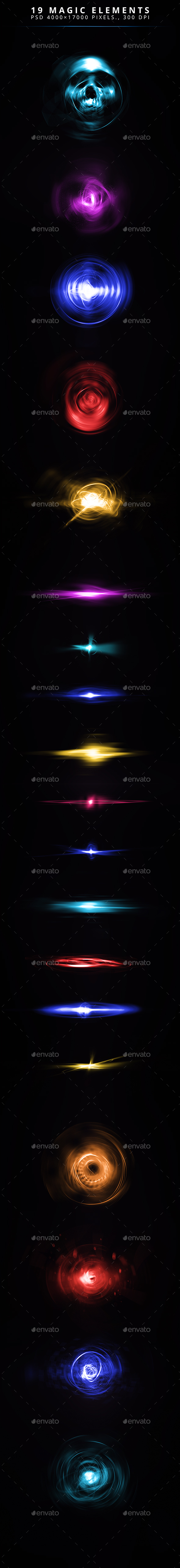 GraphicRiver 19 Magic Elements 20807439