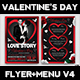 Valentines Day Flyer + Menu Bundle V4 - GraphicRiver Item for Sale