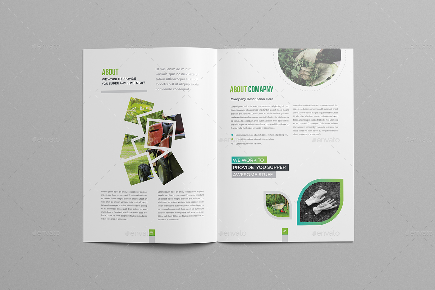 nursery brochure templates free - garden brochure template 24 page by generousart graphicriver