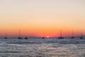 Sunset on the sea, Santorini