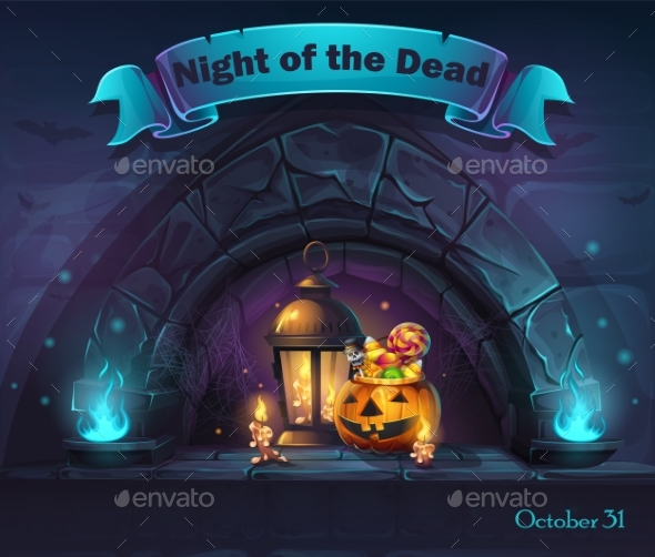 Vector Halloween Cartoon Illustration