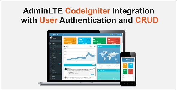 Codeigniter with AdminLTE  Integration + Login Authentication + User CRUD - CodeCanyon Item for Sale