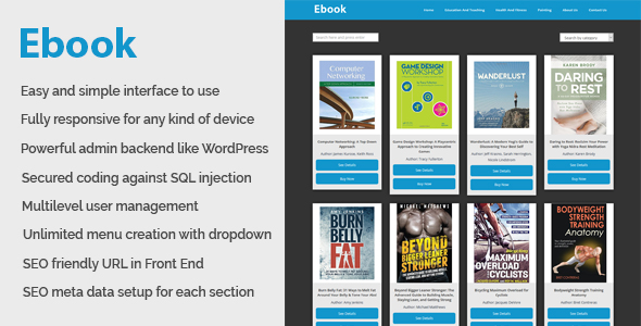 Ebook - Online ebook download and management CMS - CodeCanyon Item for Sale