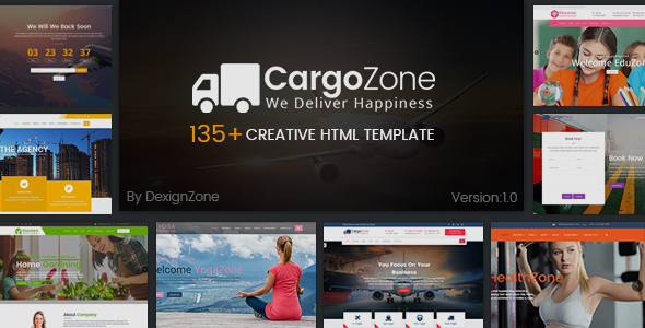 CargoZone - Transport, Cargo, Logistics & Business Multipurpose HTML Template