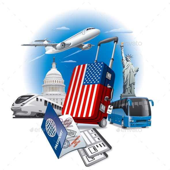 GraphicRiver Travel in USA 20830136