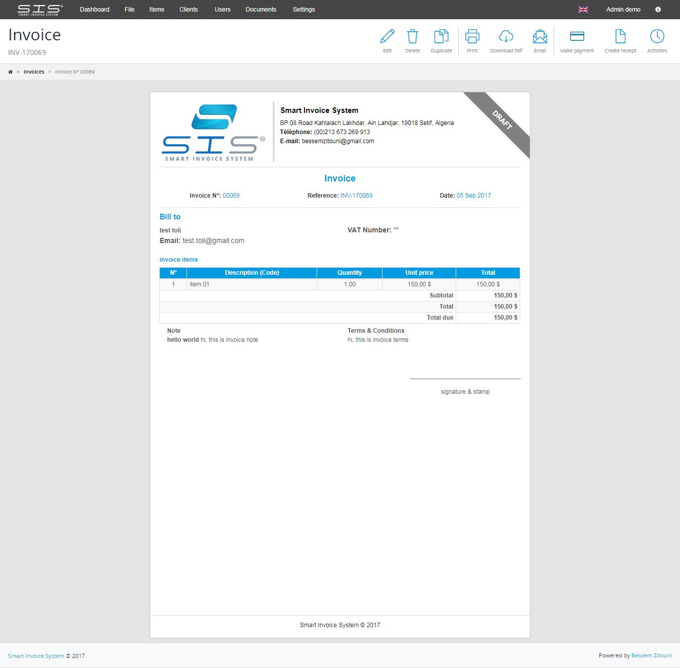 smart invoice create - photo #43