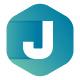 Cubical J Letter Logo