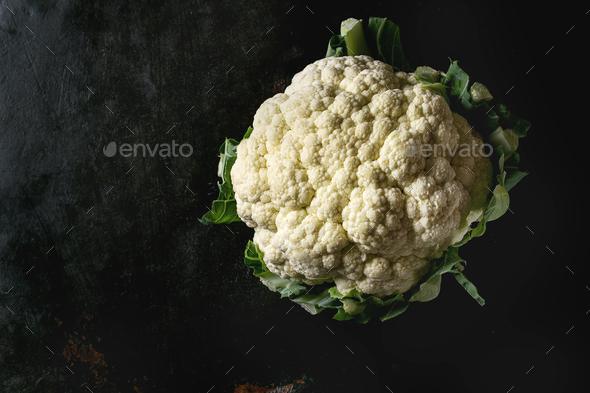 White organic cauliflower - Stock Photo - Images