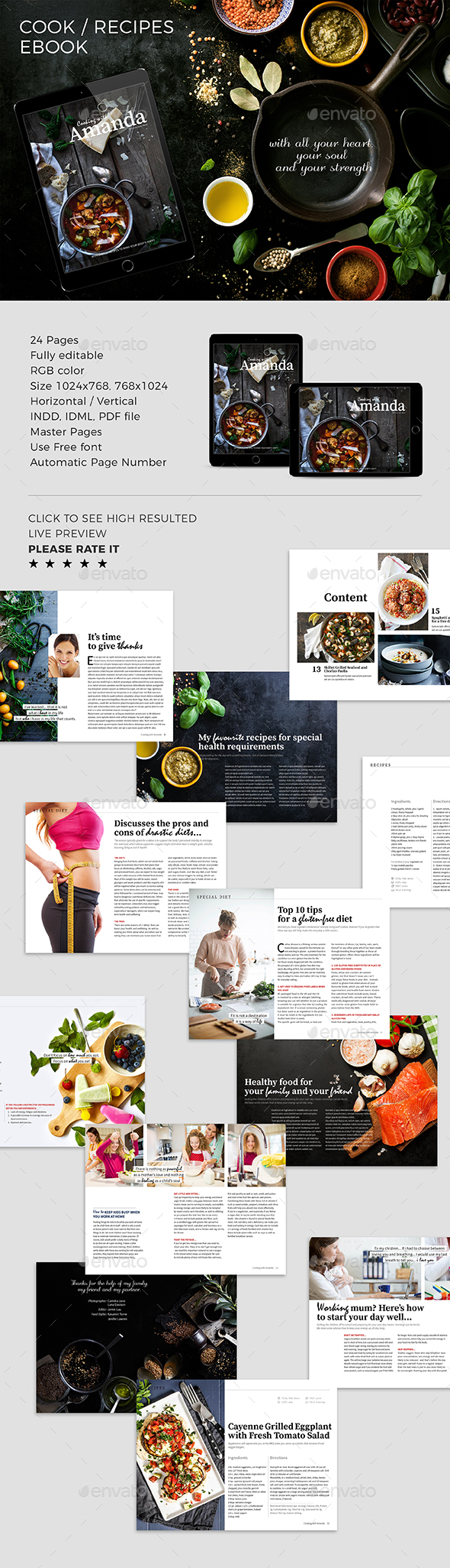 GraphicRiver Cook & Recipes ebook 20792793