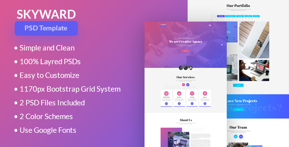 ThemeForest Skyward PSD Template 20689968