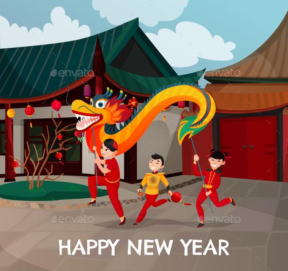 Chinese New Year Illustration - New Year Seasons/Holidays