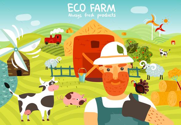 GraphicRiver Eco Farm Composition 20830409