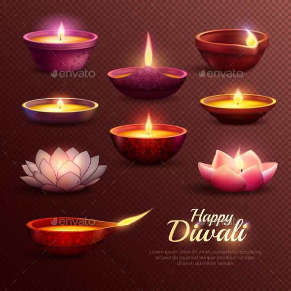 GraphicRiver Diwali Celebration Icons Set 20830410