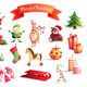 Christmas Cartoon Icons Set