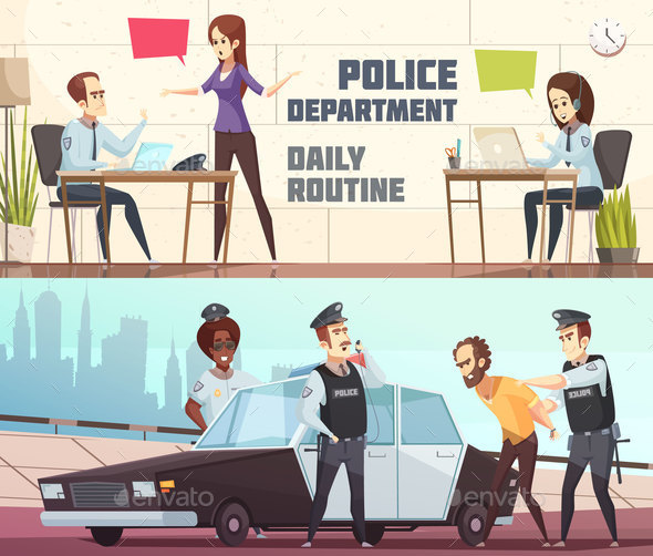 GraphicRiver Police Department Horizontal Banners 20830444
